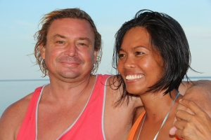Yani and vovo -the owners of Duyung Baru liveaboard Indonesia